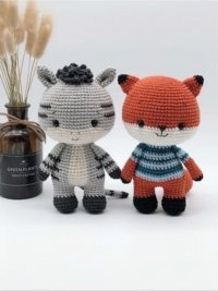 Tranguyenami The little Zebra and little Fox.jpg