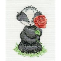 Woodland Folk Bert Badger with a Rose BK1196.jpg