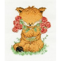 Woodland Folk Toby Fox with Roses BK1197.jpg