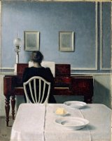 Wilhelm Hammershoi Interior with woman at piano.jpg