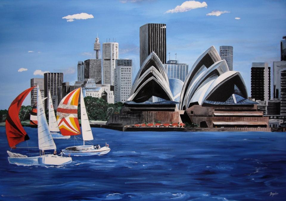 Festményeim 7 / Sydney Opera House