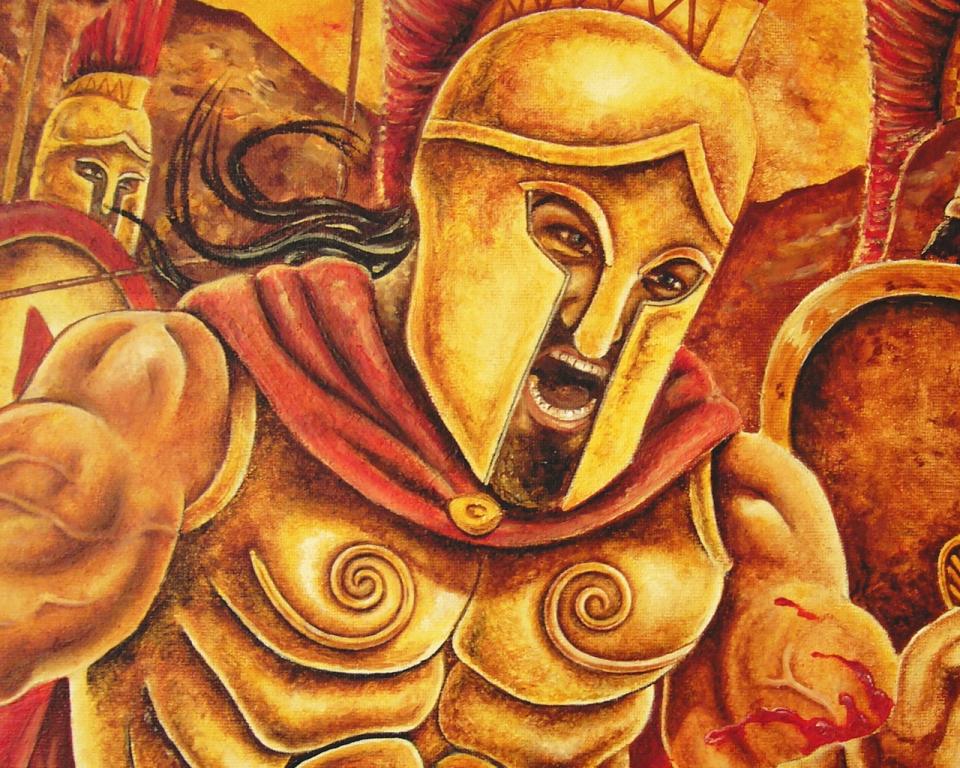 Festményeim 3 / Trója és Thermopüla