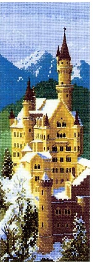 Ткань для вышивки бисером зимний замок